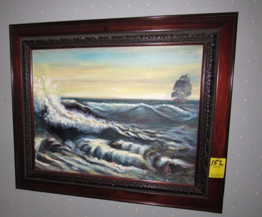 SeaScape Oil on Canvas Painting