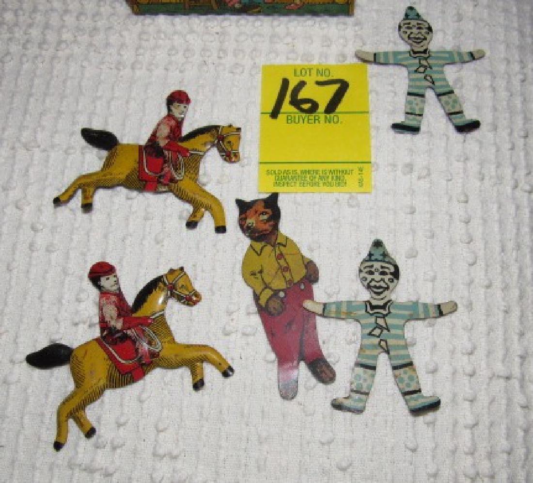 Tin Figures & Chein Log Cabin Bank - 2