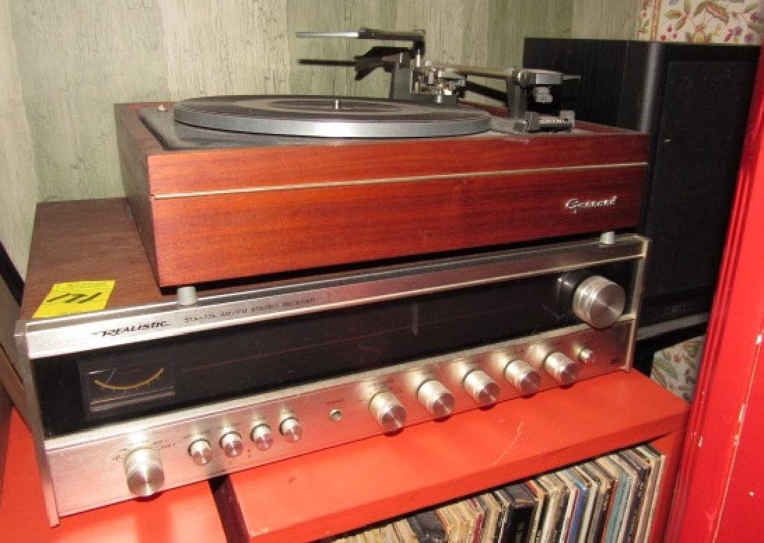 Garrard AT 60 Turntable & Realistic Receiver