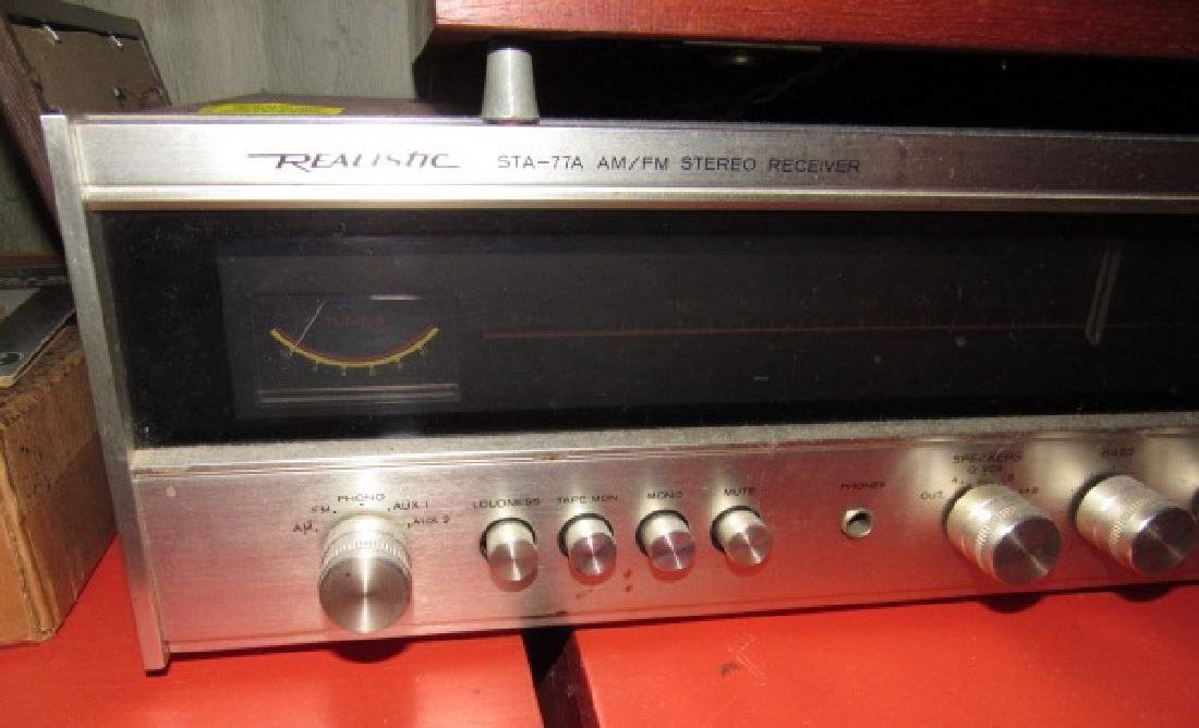 Garrard AT 60 Turntable & Realistic Receiver - 4