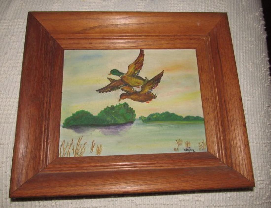 Natalie Mallard Duck Painting on Board
