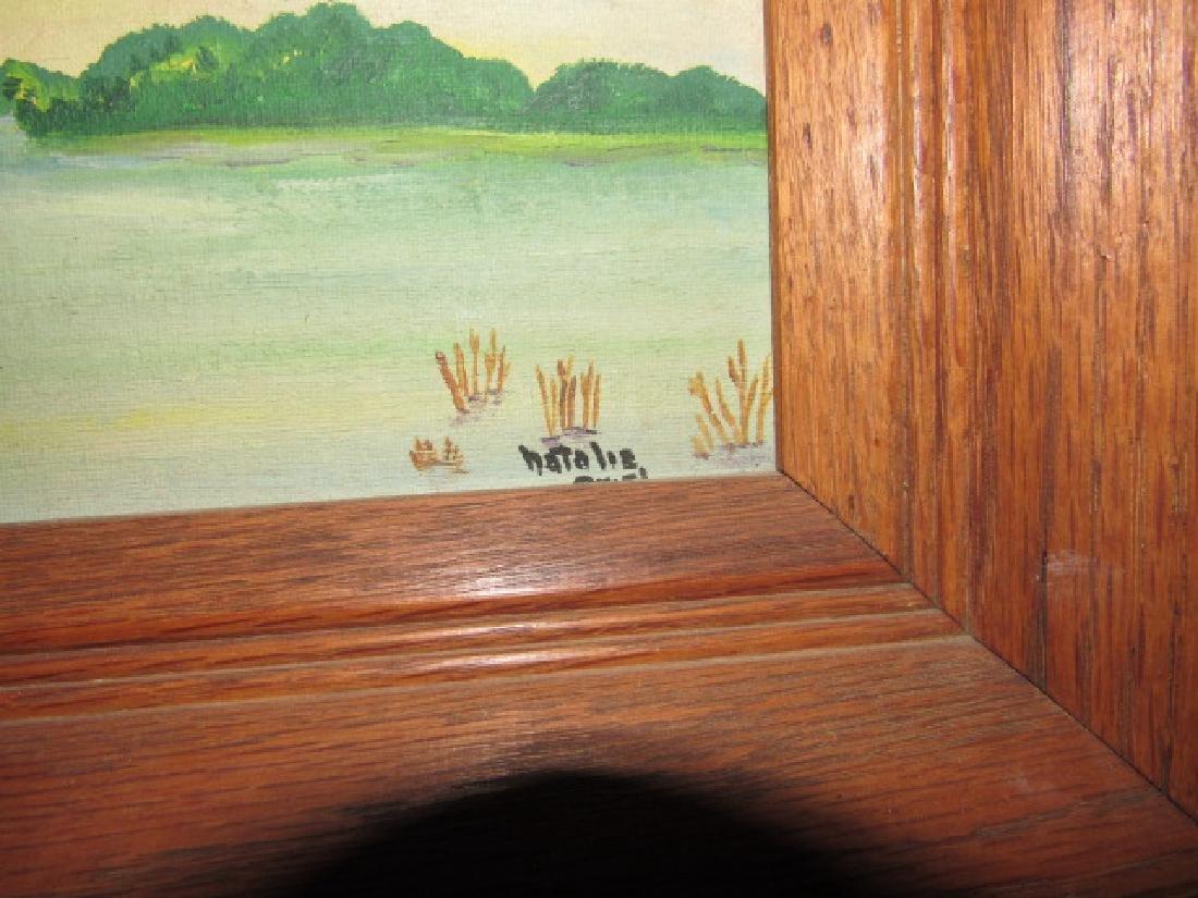 Natalie Mallard Duck Painting on Board - 2