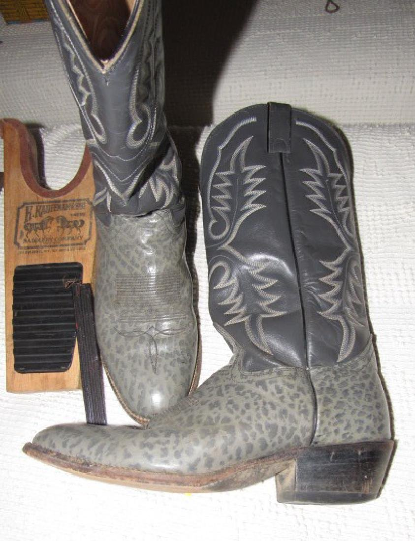 Gray Cowboy Boots w/ Boot Jack - 3