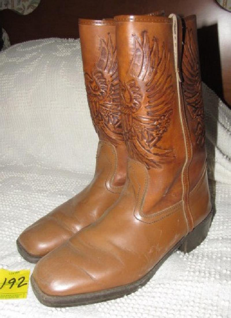 Cowboy Boots w/ Eagle