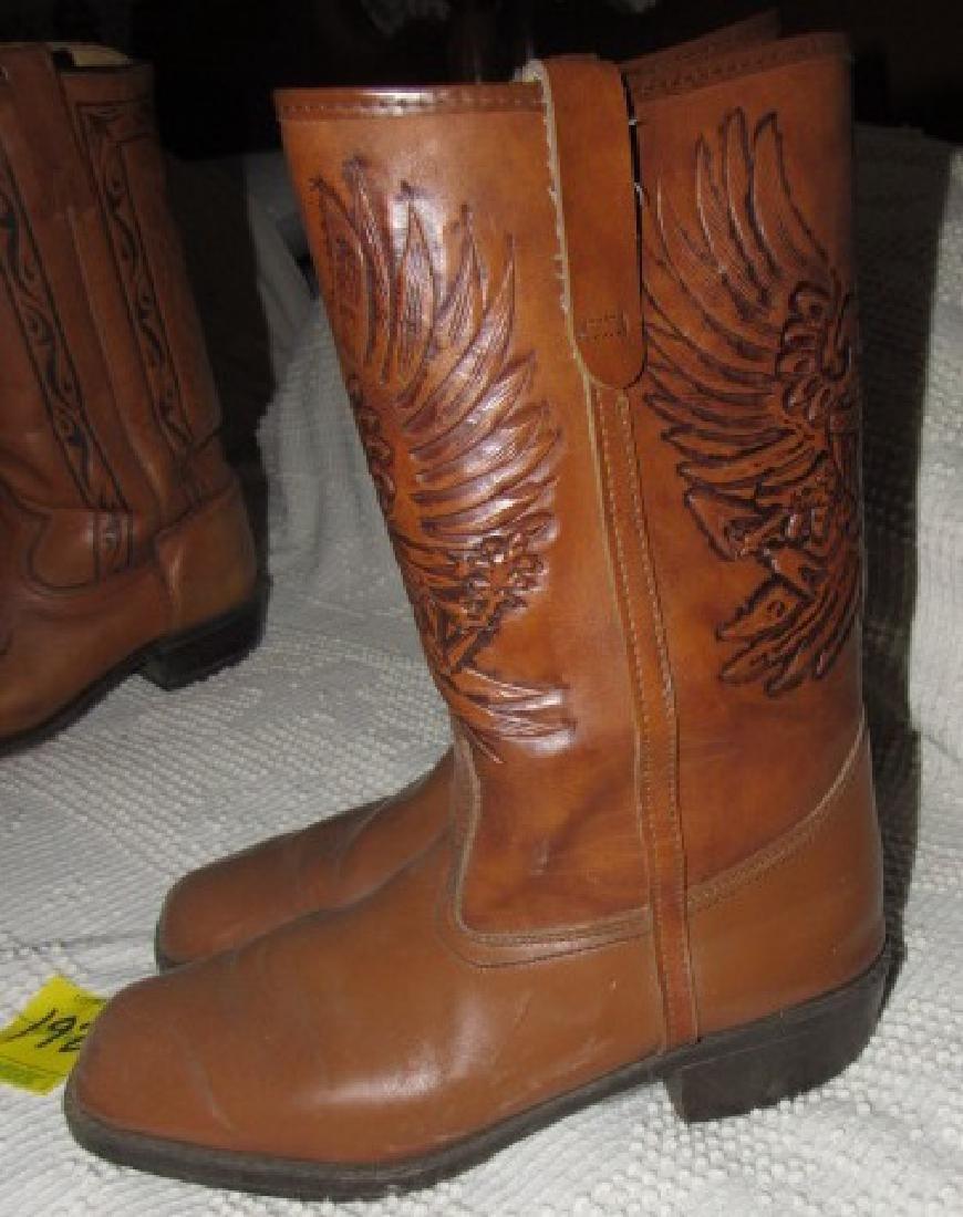 Cowboy Boots w/ Eagle - 2