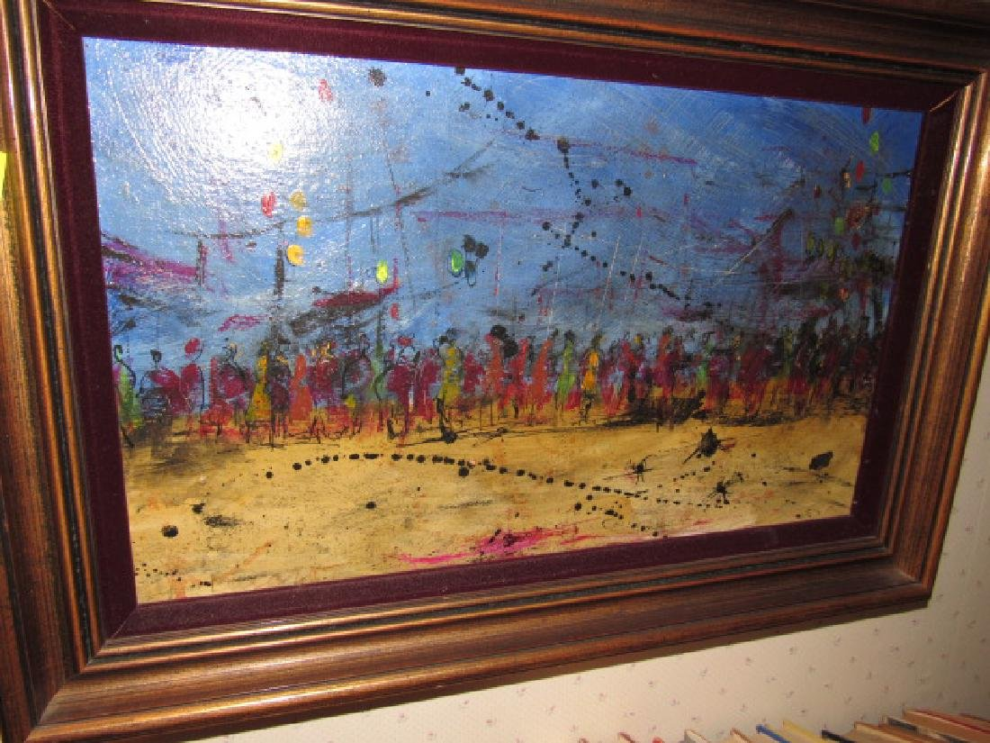 Abstract Oil On Canvas Painting - 2