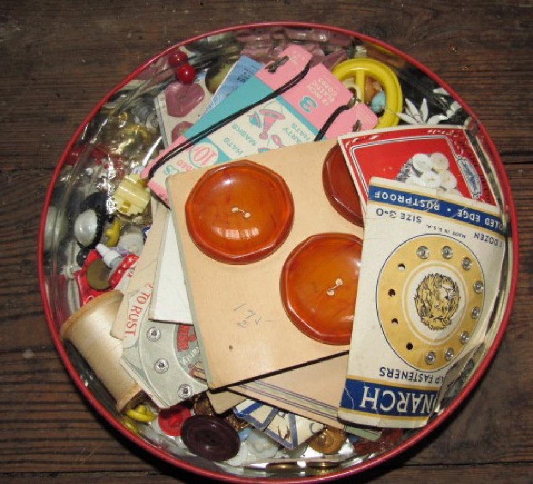 Tin of Buttons & Misc