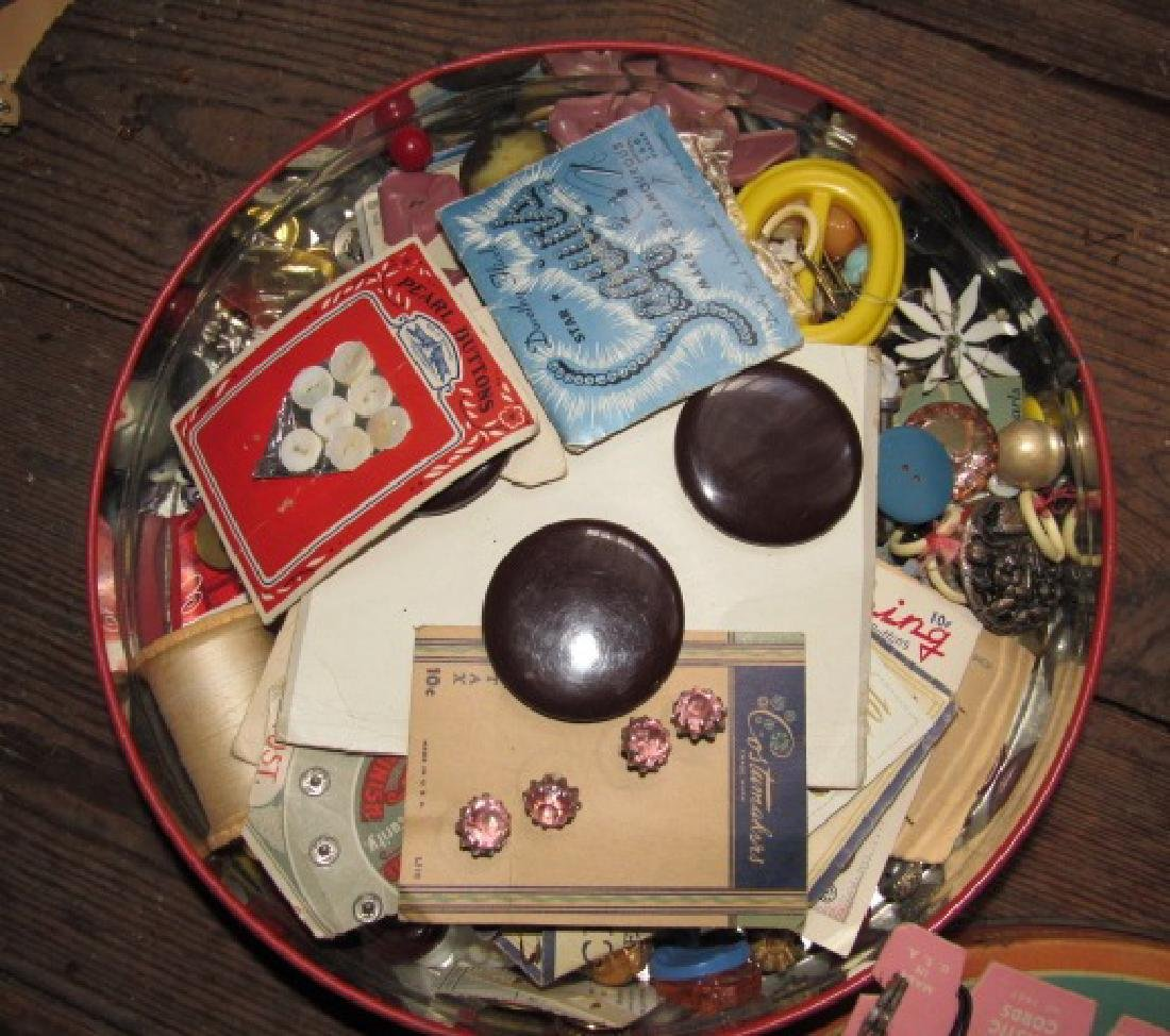 Tin of Buttons & Misc - 2