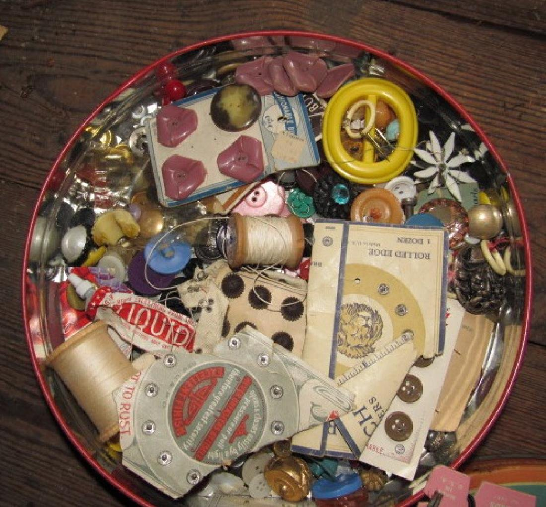 Tin of Buttons & Misc - 3