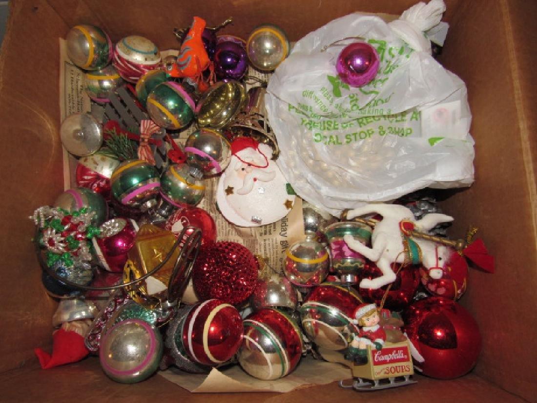 Box of Vintage Christmas Ornaments