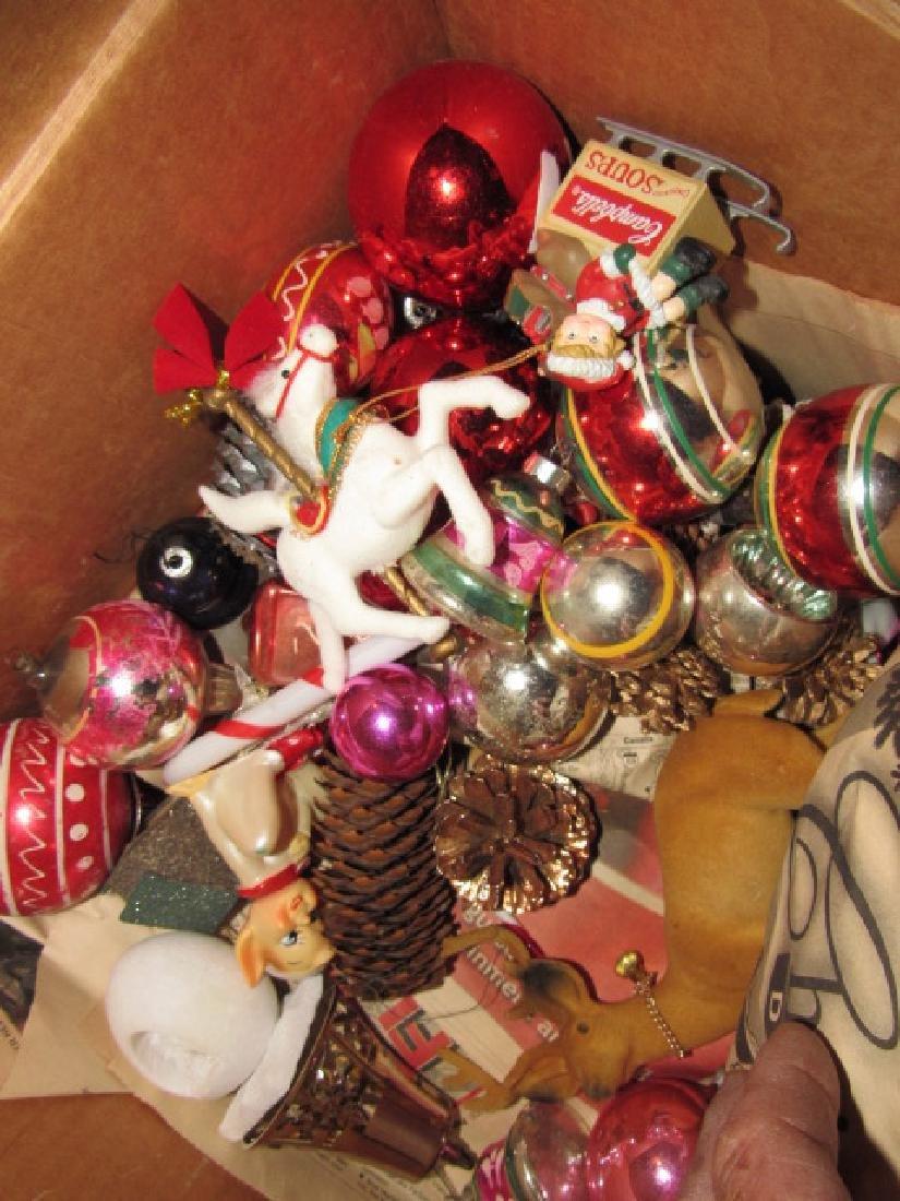 Box of Vintage Christmas Ornaments - 2