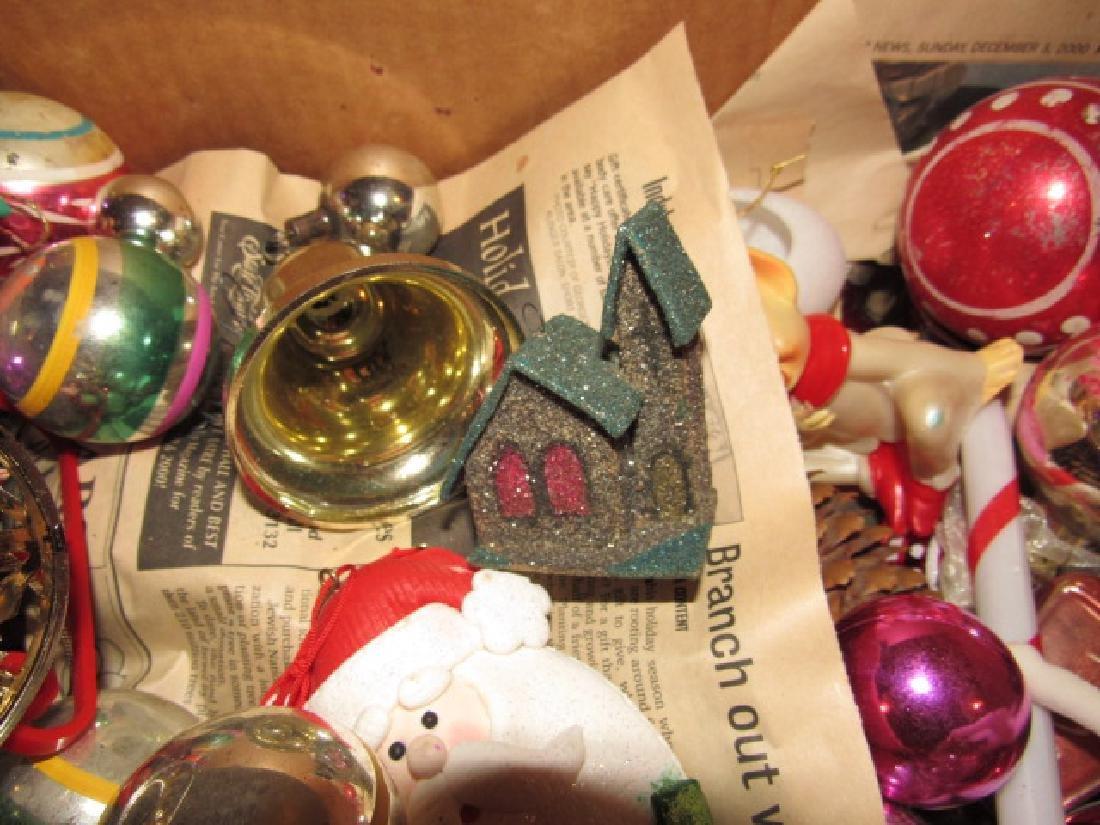 Box of Vintage Christmas Ornaments - 3