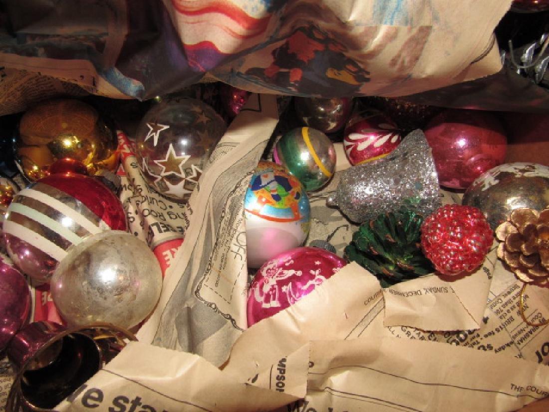 Box of Vintage Christmas Ornaments - 4