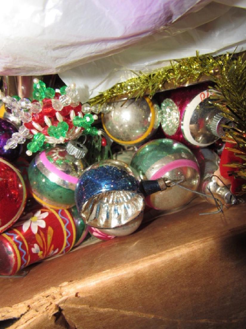Box of Vintage Christmas Ornaments - 5