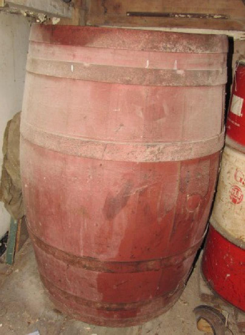 Red Painted Barrel