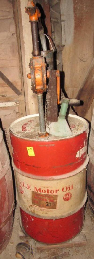 30 Gallon GLF Motor Oil Drum