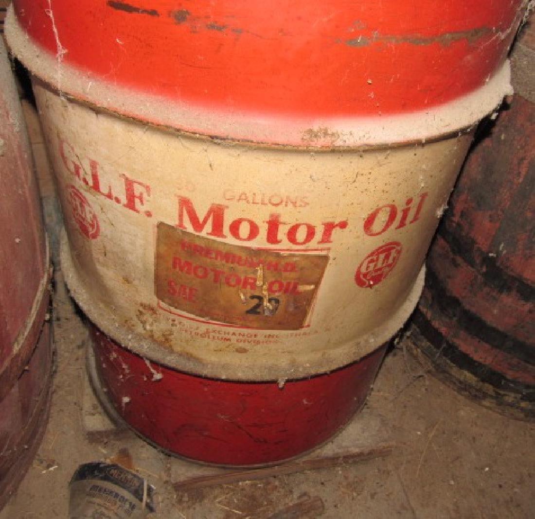 30 Gallon GLF Motor Oil Drum - 2