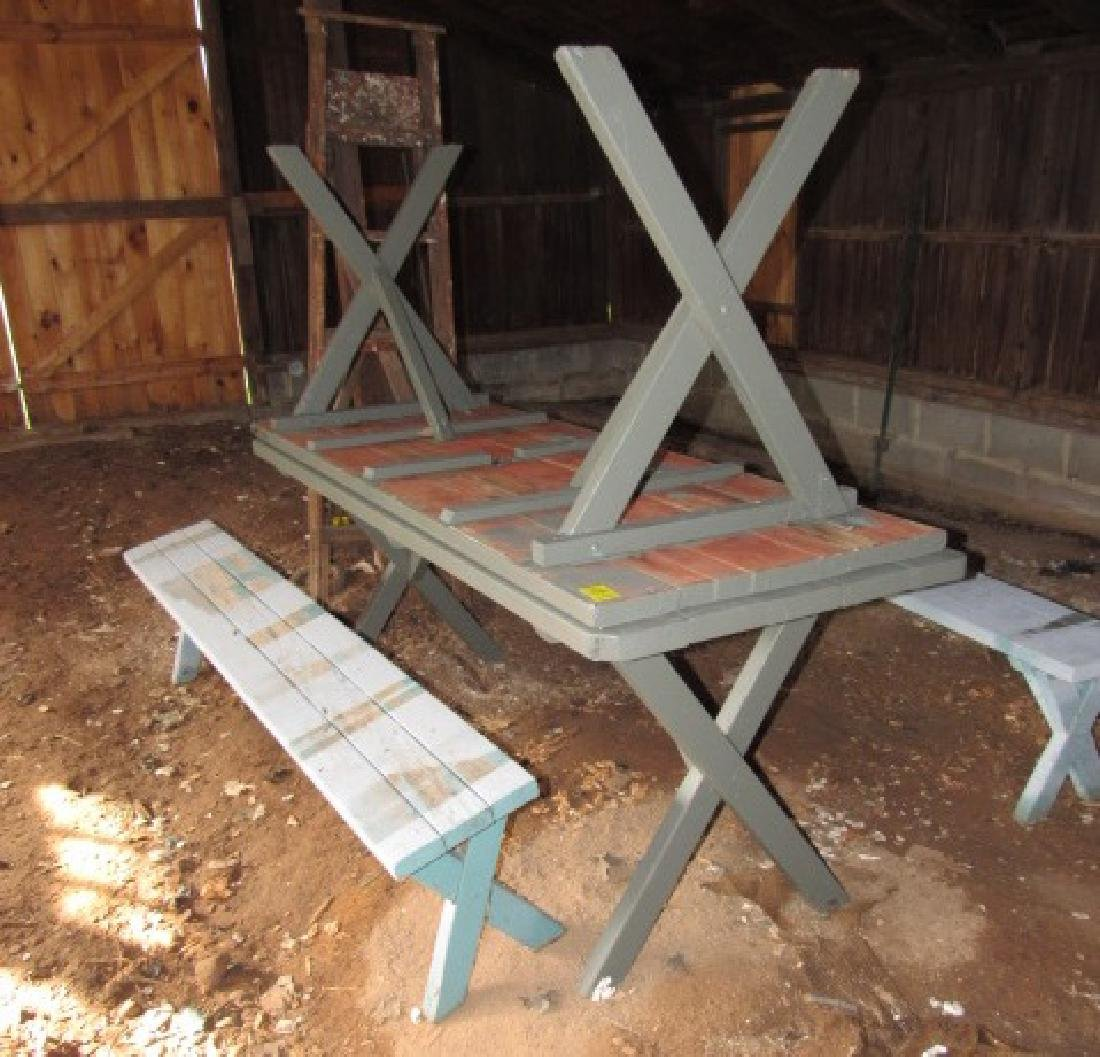 2 Picnic Tables & 2 Benches