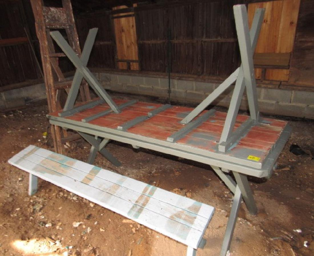 2 Picnic Tables & 2 Benches - 2