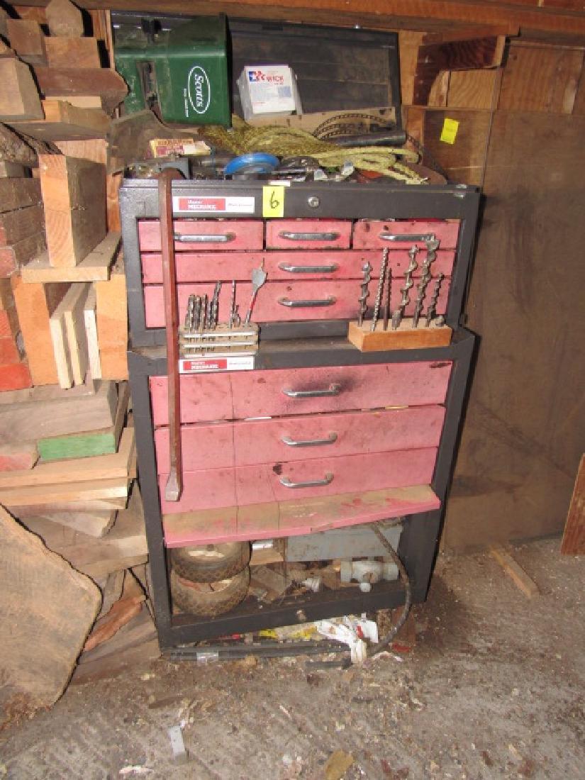 Master Mechanic Tool Box & Contents