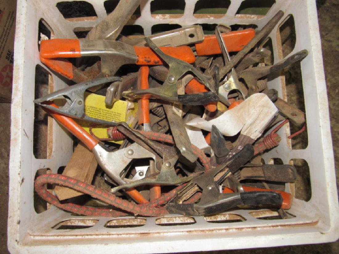 Crate full Spring Clamps & Wire