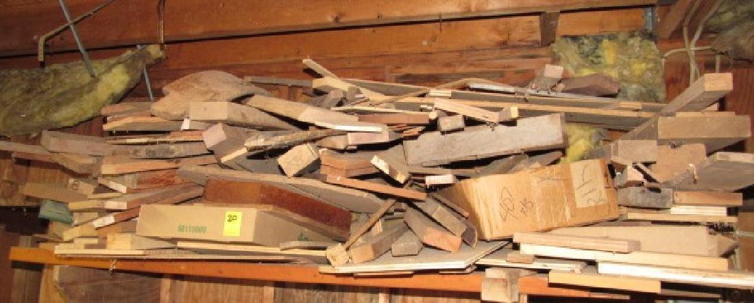 Lot of Misc Kindling Wood on Shelf