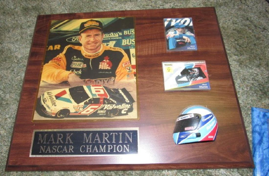 Mark Martin Nascar Racing Plaques