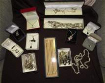 Sterling Silver  Gold Jewelry Lot