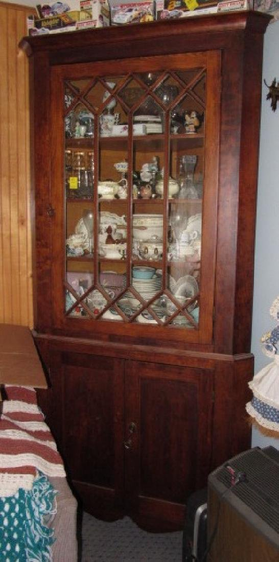 Soft Wood Corner Cupboard