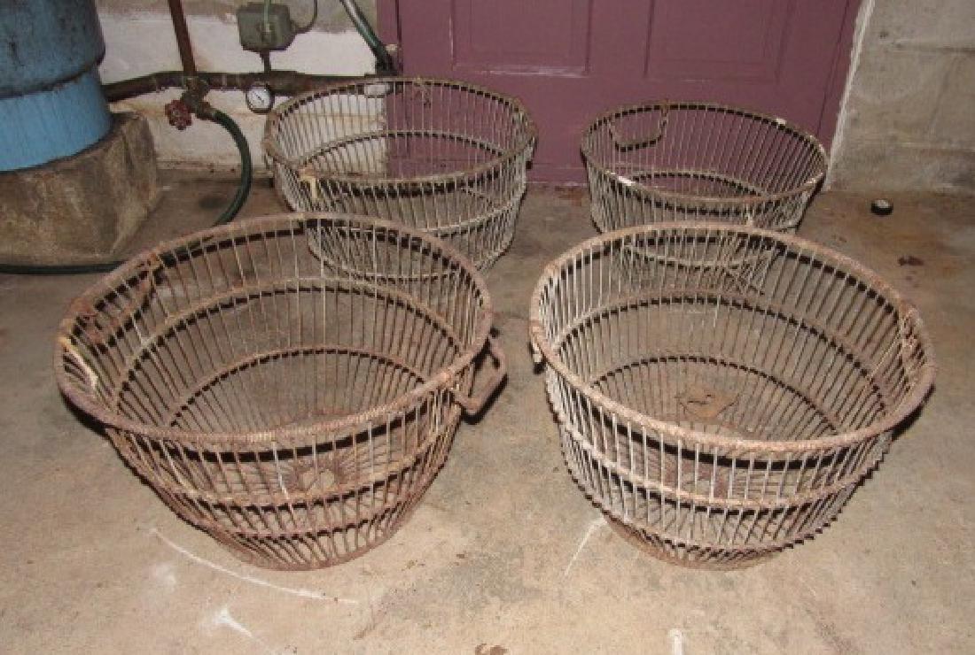 4 Antique Wire Bushel Baskets