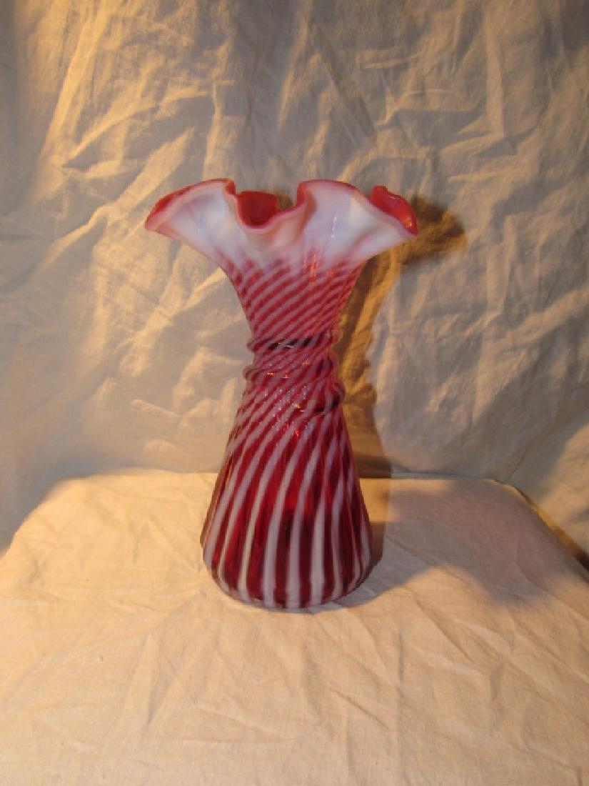Fenton Art Glass Opalescent Swirl Vase