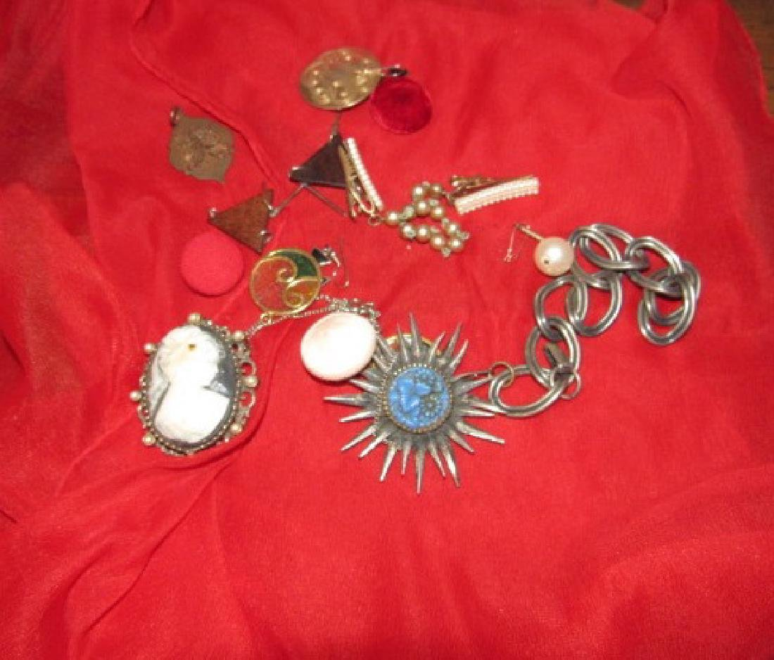 Jewelry Lot Pendants Pins Charms