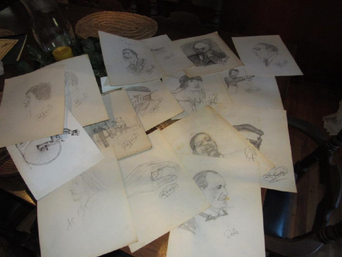 Large Lot of Sketches