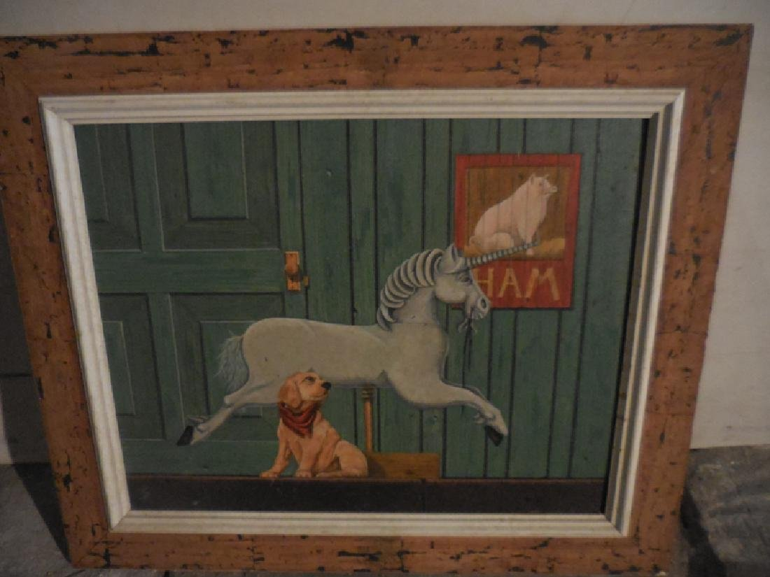 Horse & Dog Print