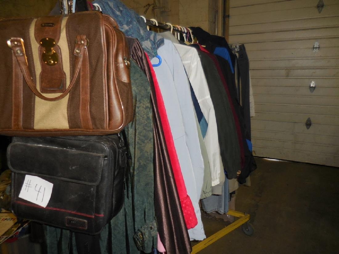 Rack of Clothes and Purses