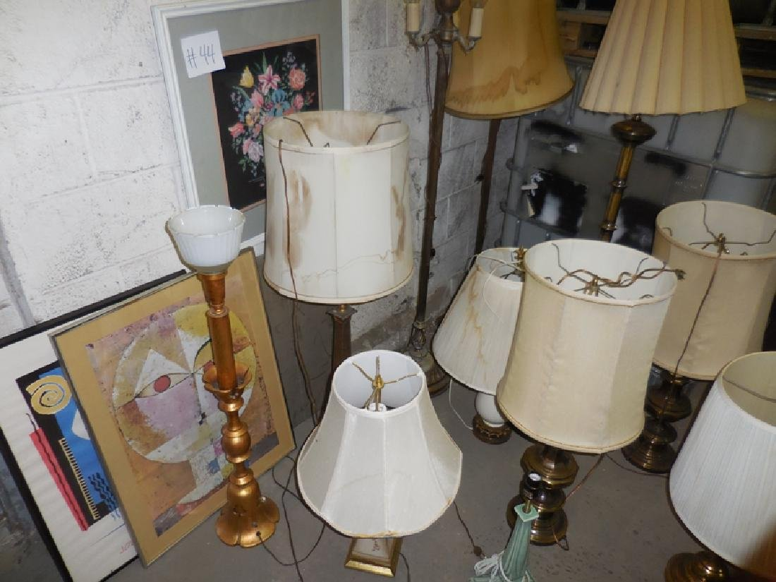 Lamp & Picture Lot