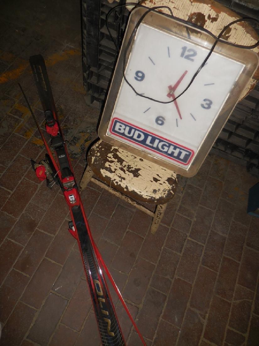 Bud Light Clock, Chair, Skii Lot