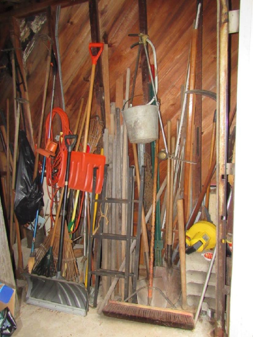 Garden Tools & Galvanized Pail Lot