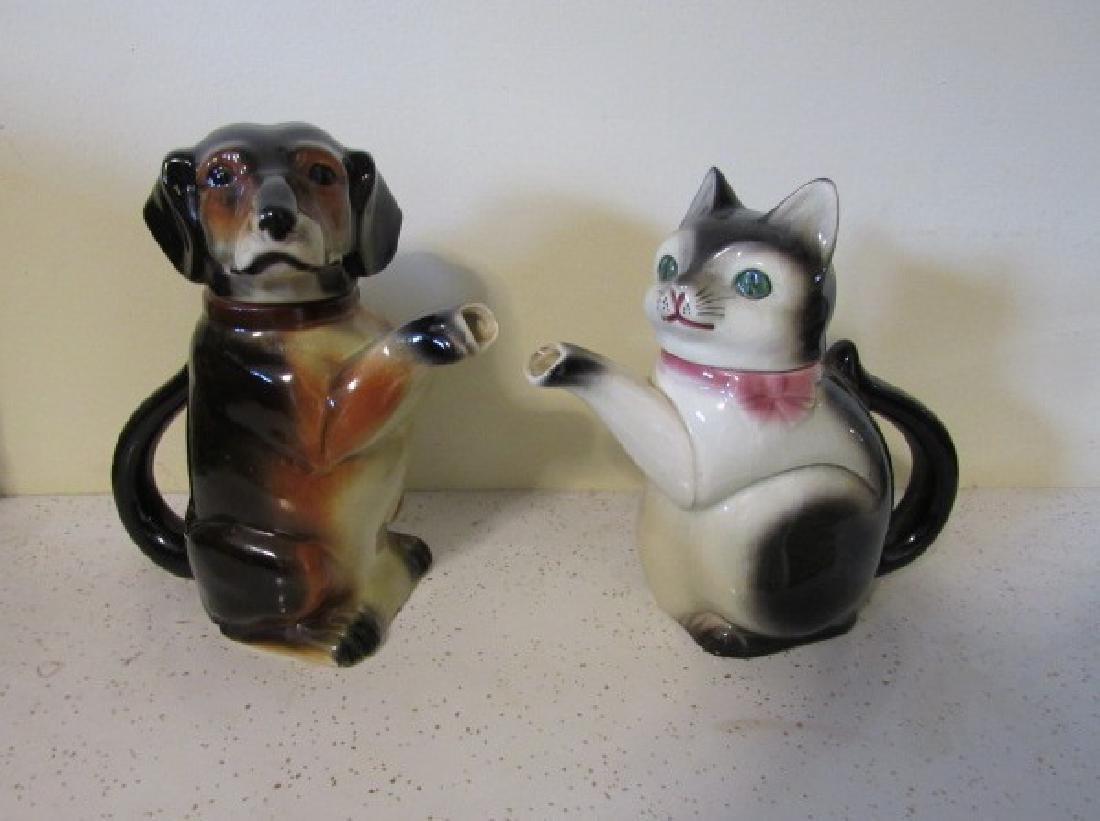 Erphila Germany Dog & Cat Teapots