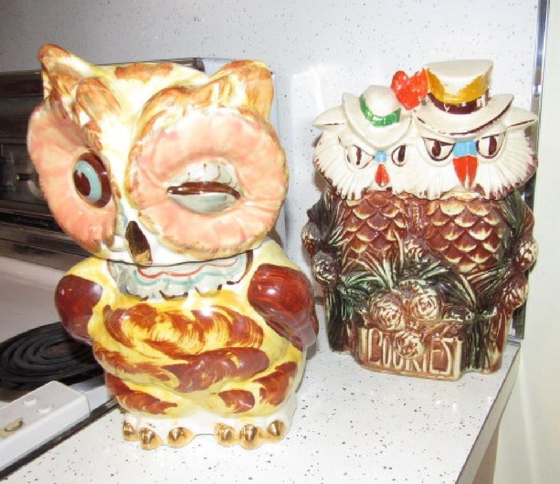 2 Owl Cookie Jars McCoy