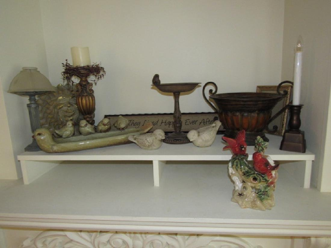 Cast Iron Bird Bath Candle Holder Lot