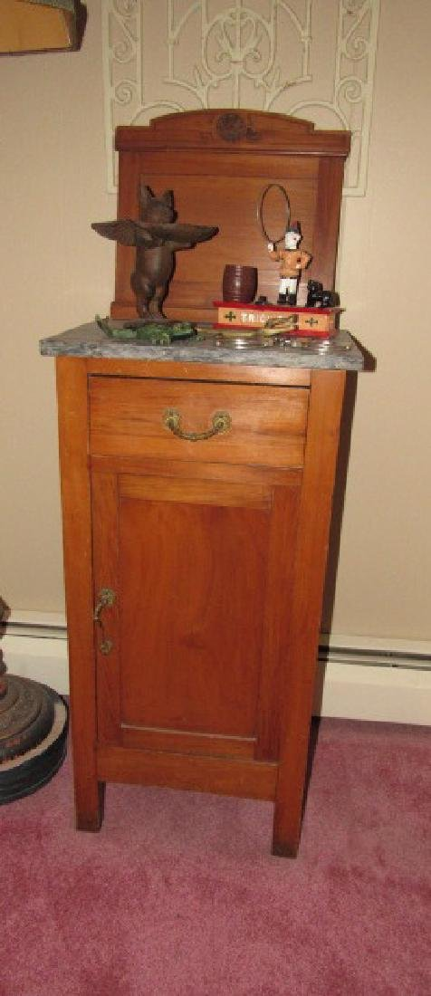 Pine Washstand w/ Marble Top