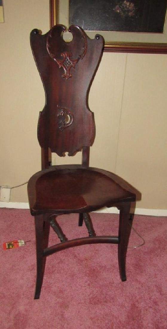 Mahogany Carved Ladies Desk Chair