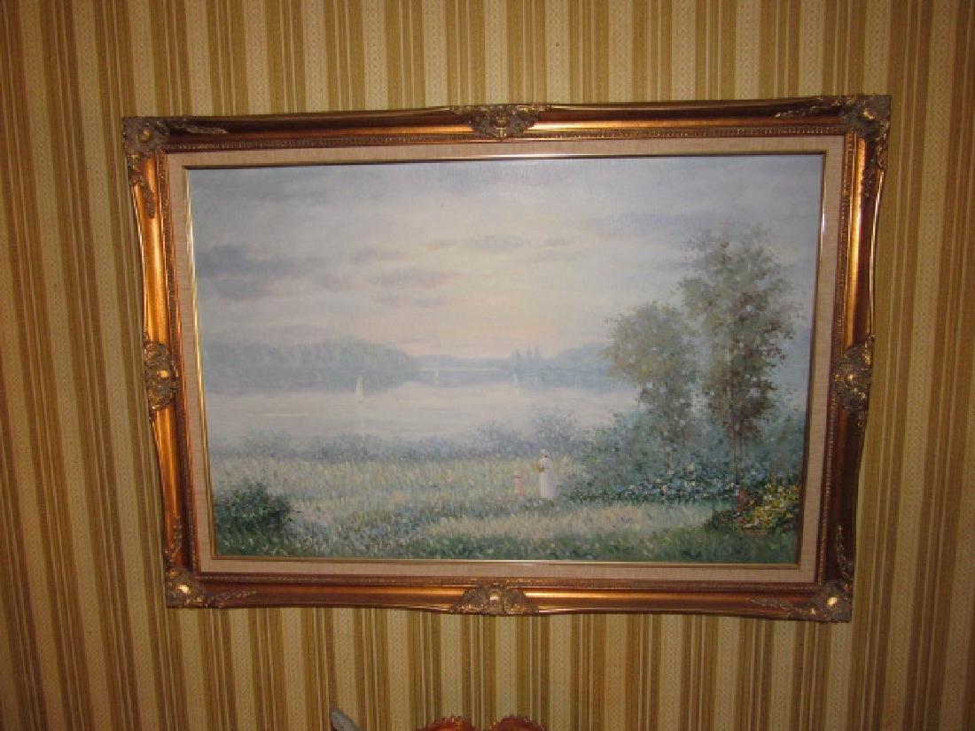 K Jonathon Oil On Canvas Painting