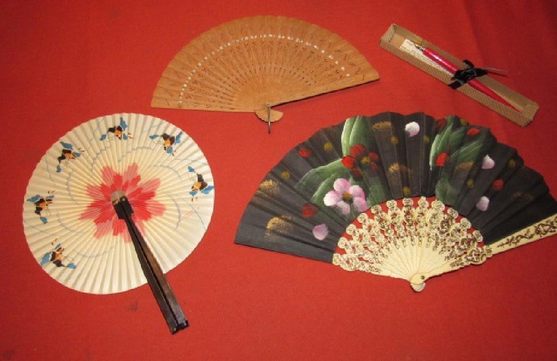 3 Oriental Hand Fans