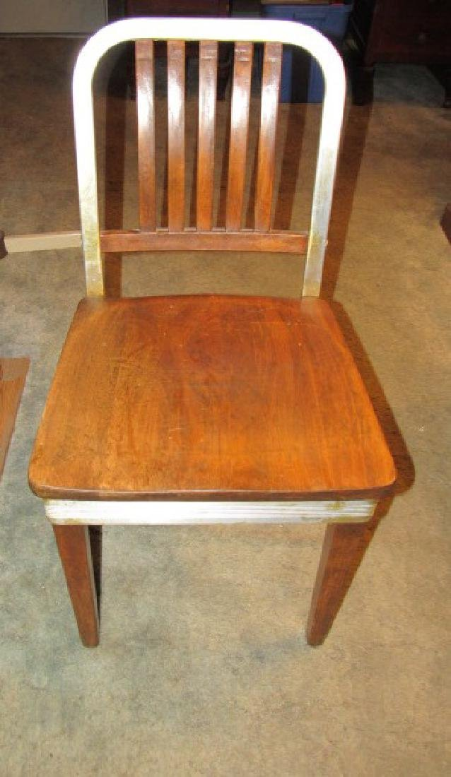 Vintage Retro Wood & Aluminum Chair