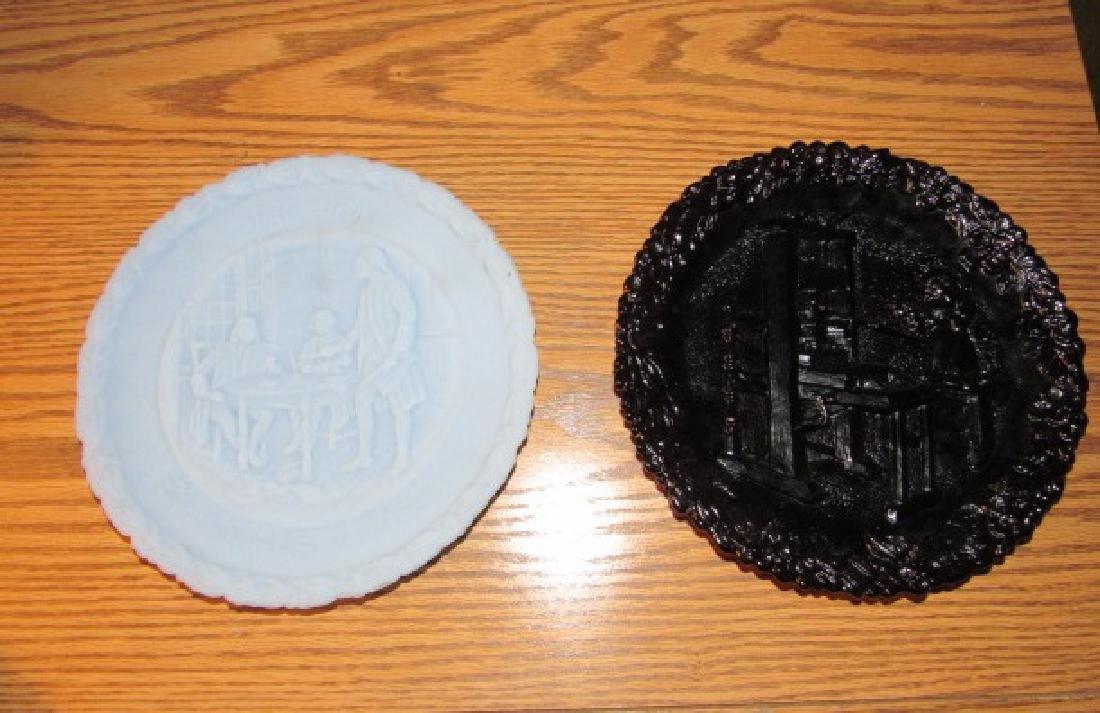 2 Fenton Glass Plates