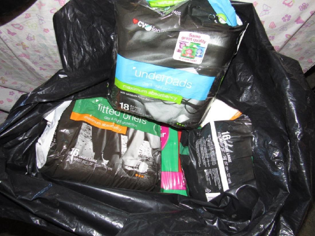 Garbage Bag full of Adult Diapers