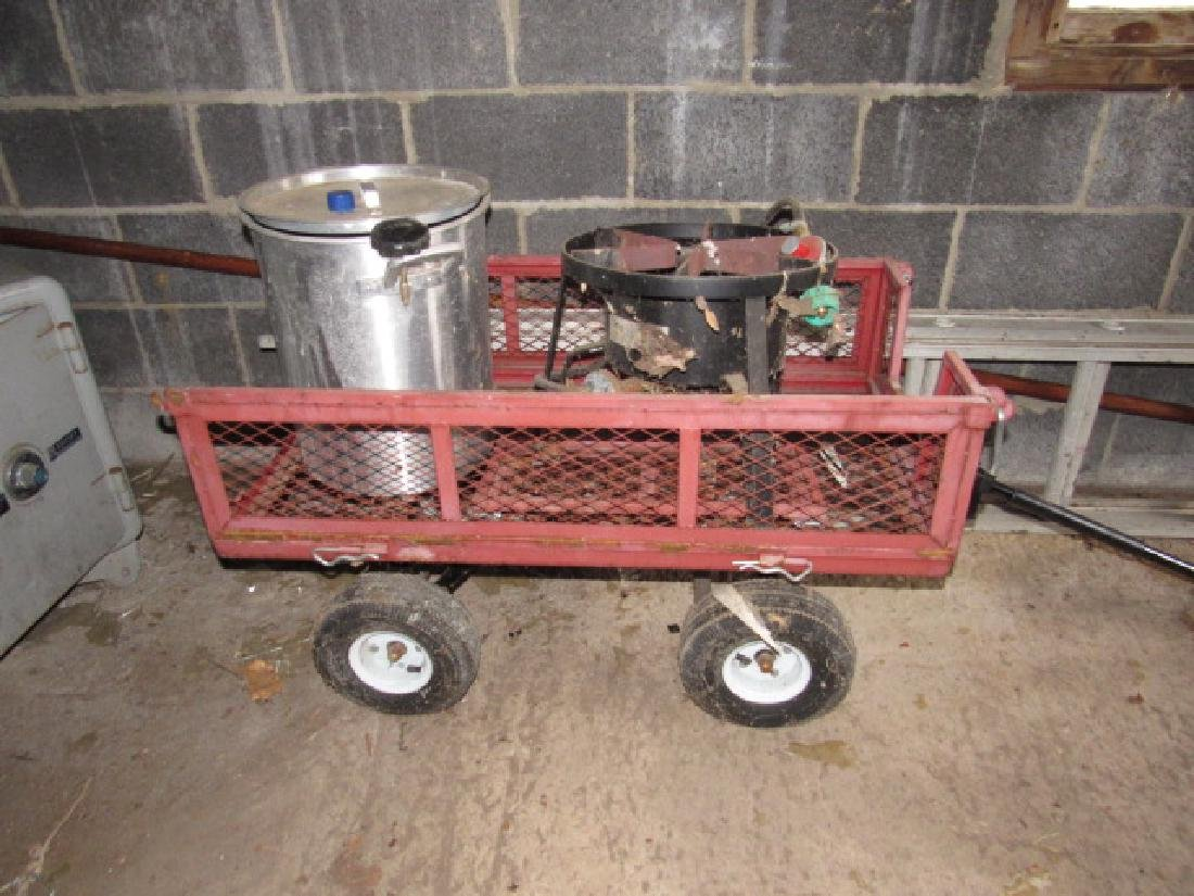 Garden Cart / Wagon & Propane Deep Fryer