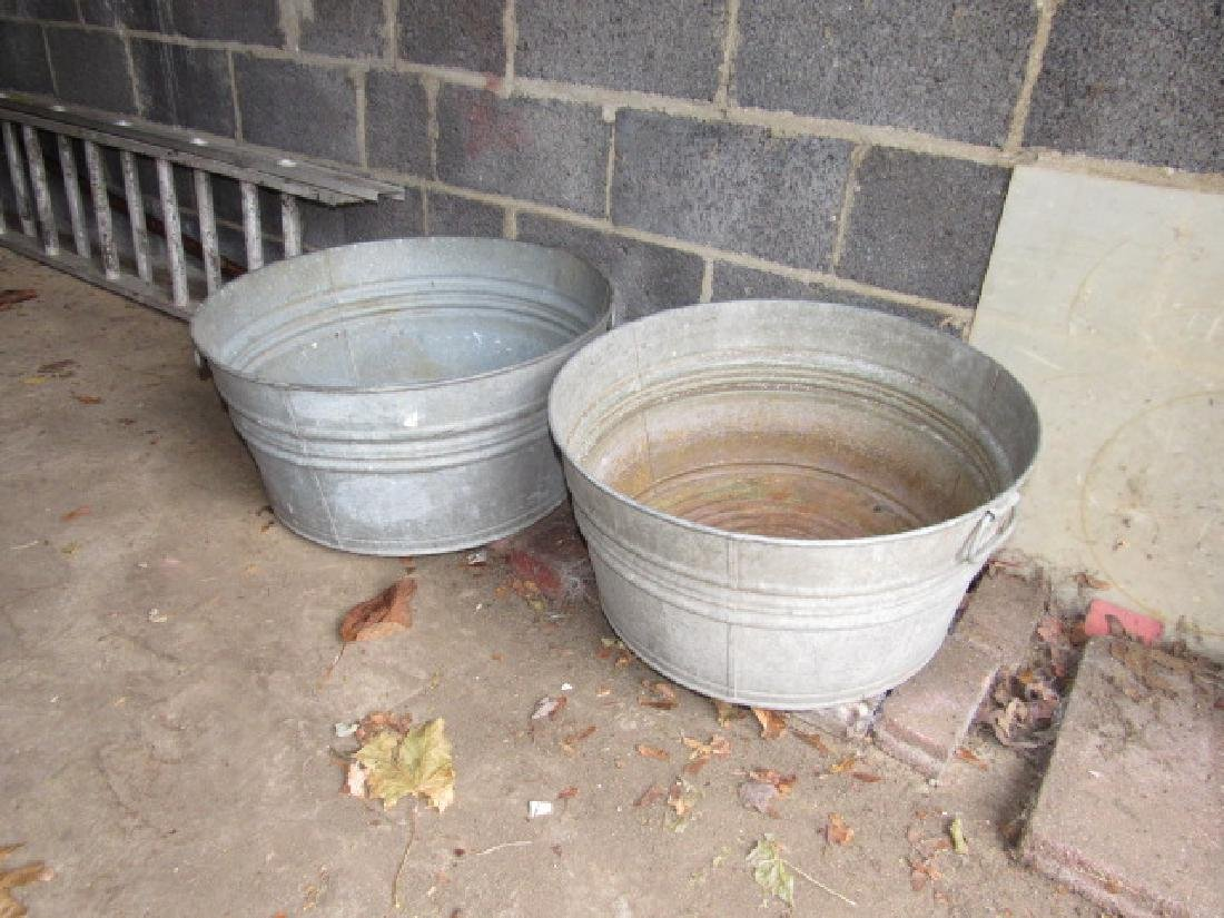 2 Galvanized Wash Tubs